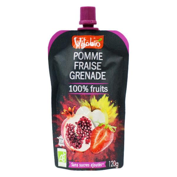 Vitabio Gourde Pomme Fraise Grenade 120g