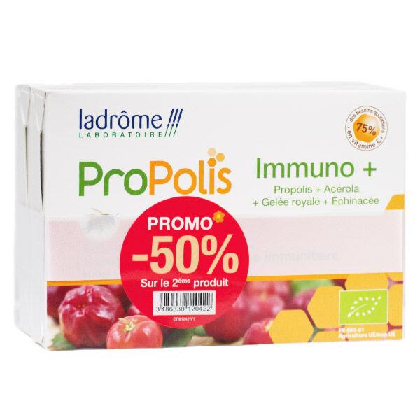 Ladrome Ladrôme Propolis Immuno+ Bio Lot de 2 x 20 ampoules
