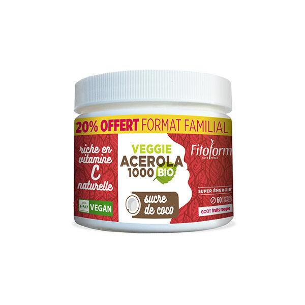 Fitoform Veggie Acérola 1000 Bio Sucre de Coco 60 comprimés