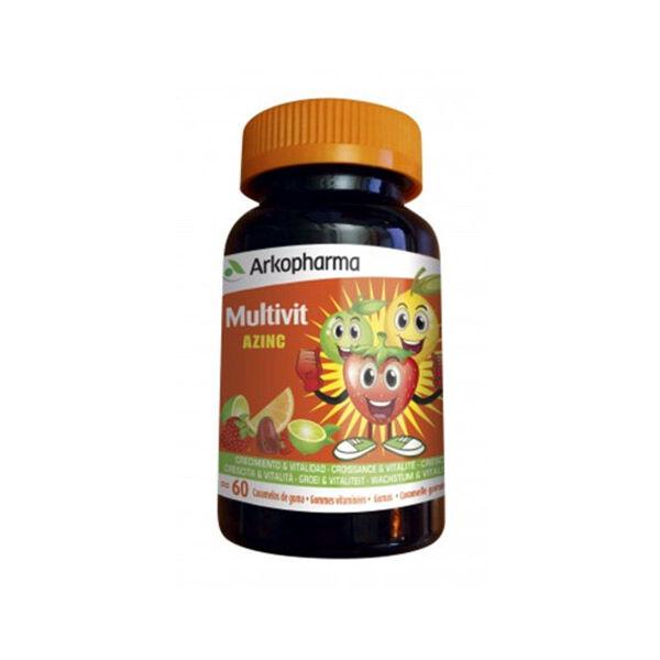 Arkopharma Azinc Multivit Croissance & Vitalité Vitamines Goût Fruité 60 gommes