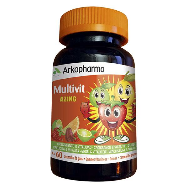 Arkopharma Azinc Multivit Goût Fruité 60 gommes