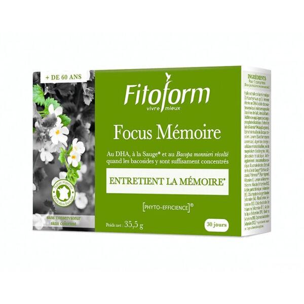 Fitoform Focus Mémoire 30 comprimés