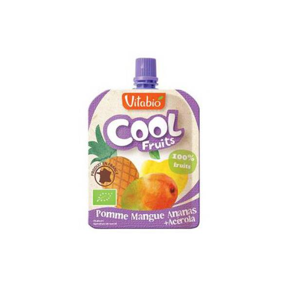Vitabio Cool Fruits Pomme Mangue Ananas + Acérola 90g