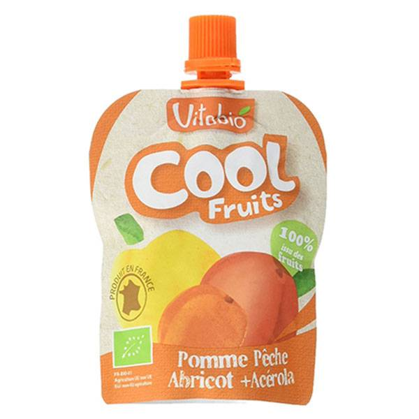 Vitabio Cool Fruits Pomme Pêche Abricot + Acérola 90g