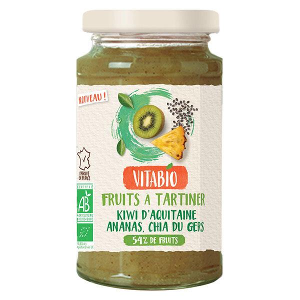 Vitabio Fruits à Tartiner au Chia Kiwi Ananas Bio 290g