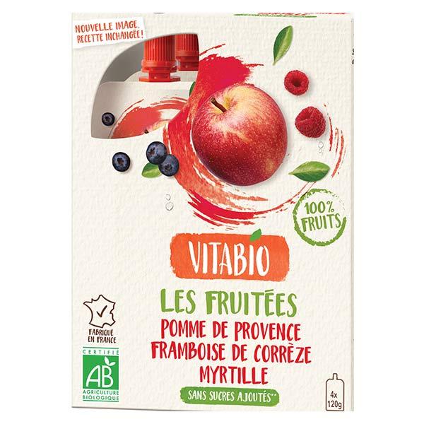 Vitabio Gourdes Pomme de Provence Framboise Myrtille 4 x 120g