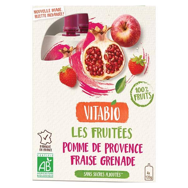Vitabio Gourdes Pomme de Provence Fraise Grenade 4 x 120g