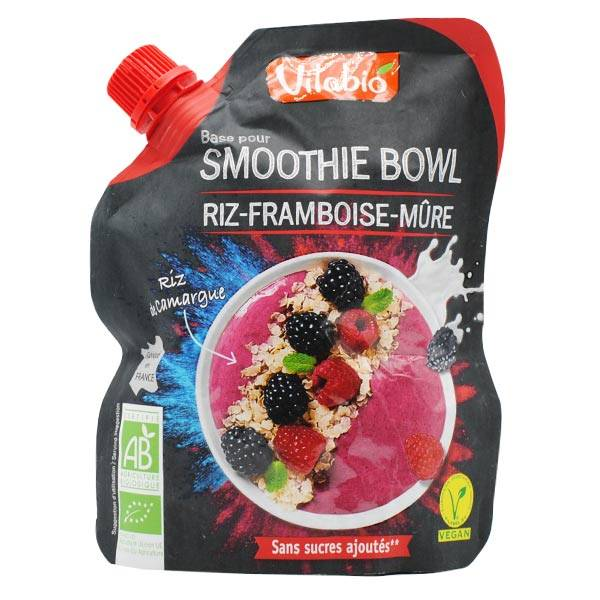 Vitabio Riz Framboise Mûre pour Smoothie Bowl Vegan 350g