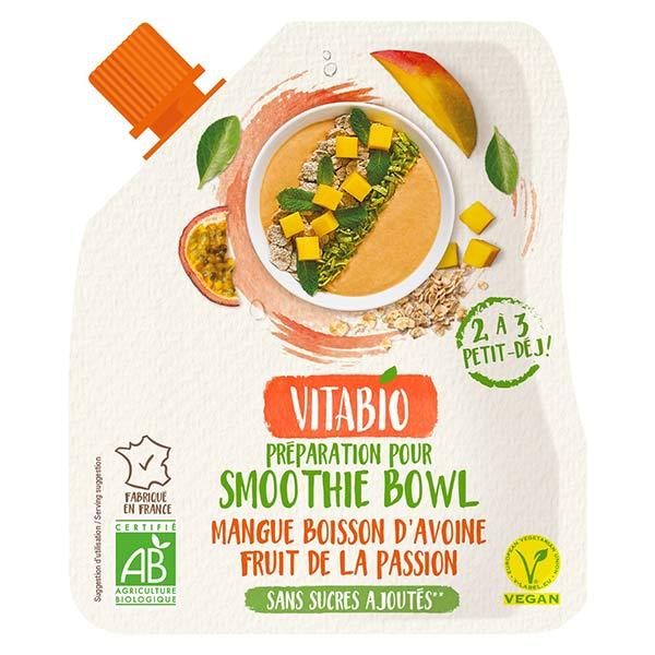 Vitabio Mangue Avoine Fruit de la Passion pour Smoothie Bowl Vegan 350g