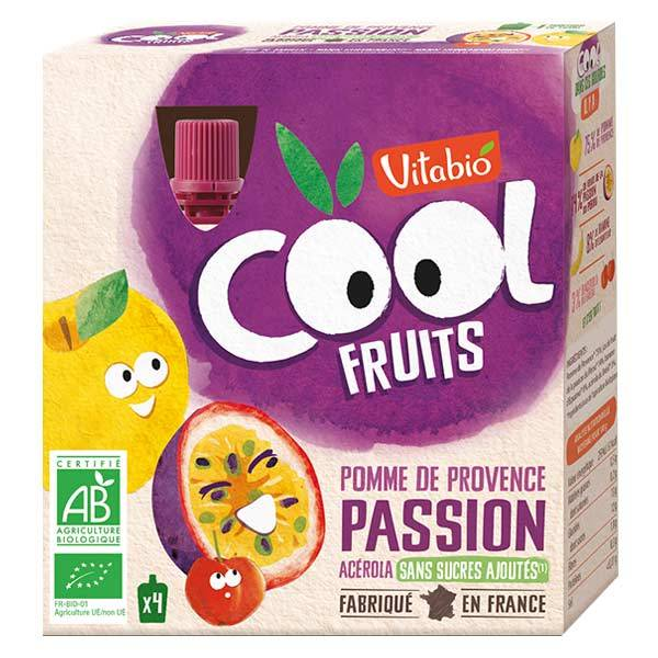 Vitabio Cool Fruits Pomme Passion + Acérola 4 x 90g