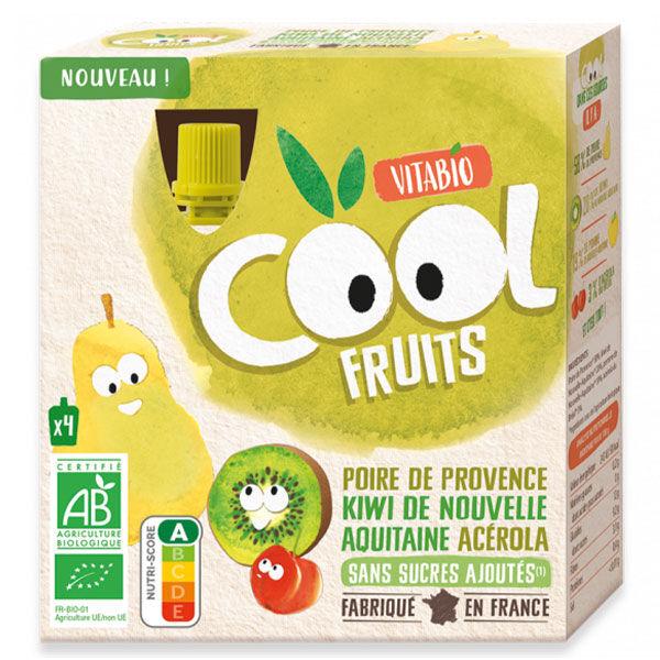 Vitabio Cool Fruits Gourde Poire Kiwi Acérola Bio Lot de 4 x 90g