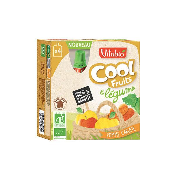 Vitabio Cool Fruits + Légumes Pomme Carotte 4 x 90g