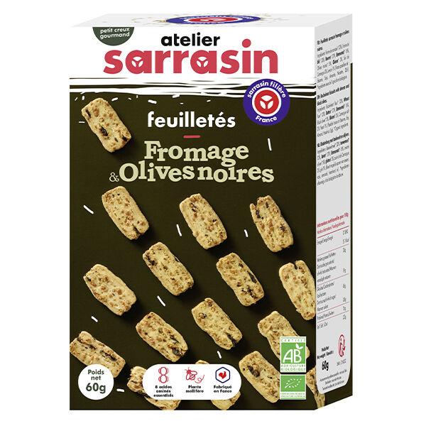 Atelier Sarrasin Feuilletés Fromage et Olives Noires Bio 60g