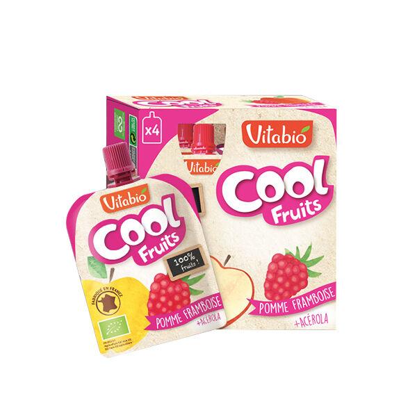 Vitabio Cool Fruits Pomme Framboise + Acérola 4 x 90g