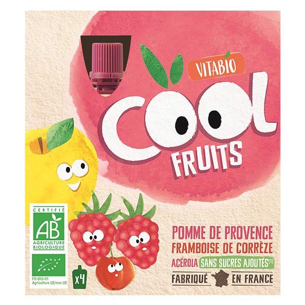Vitabio Cool Fruits Pomme Framboise Acérola Bio Lot de 4 x 90g