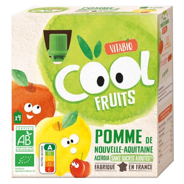 Vitabio Cool Fruits Pomme d'Aquitaine Acérola Bio Lot de 4 x 90g