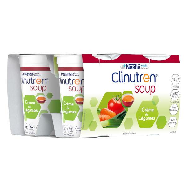 Clinutren Soup Crème de Légumes Lot de 4 x 200ml