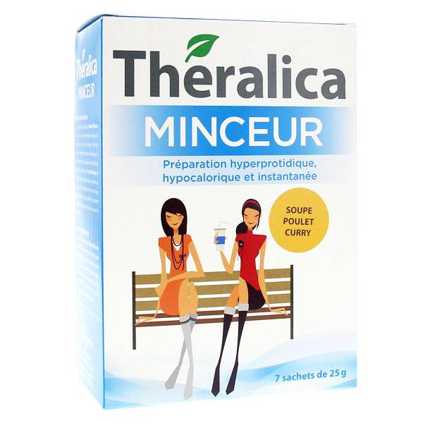 Théragreen Theralica Minceur Soupe poulet curry 7 sachets