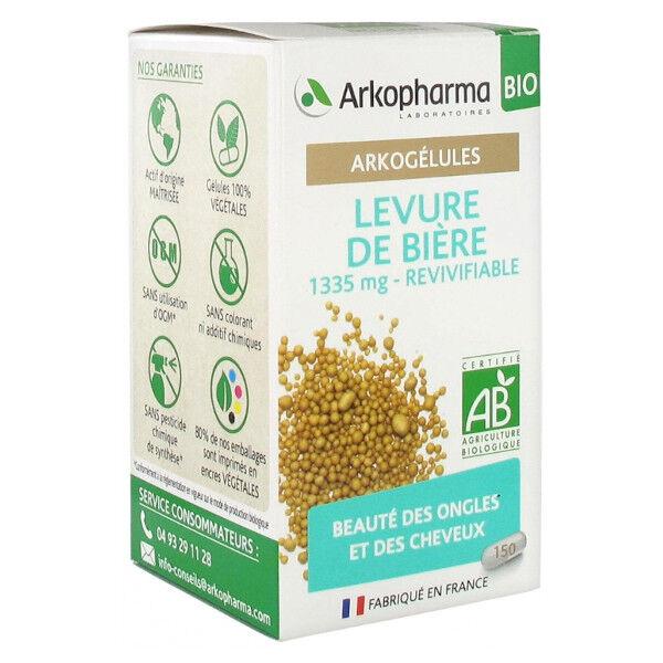 Arkopharma Arkogélules Levure de Bière Beauté Ongles Cheveux Bio 150 Gélules