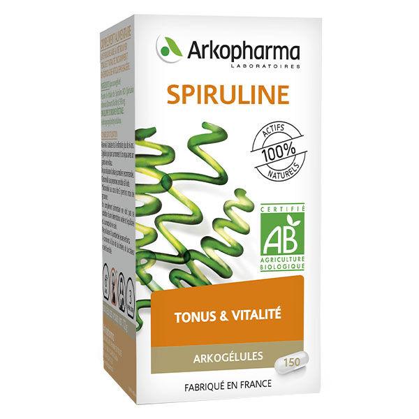 Arkopharma Arkofluides Tonus & Vialité Spiruline Bio 150 gélules