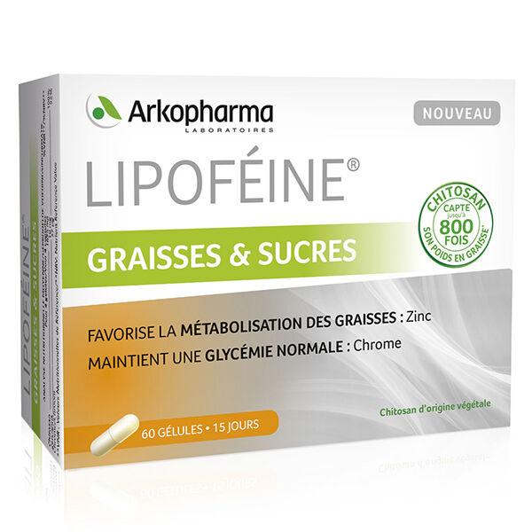 Arkopharma Lipoféine Graisses Et Sucres Zinc Chrome Chitosan 60 gélules