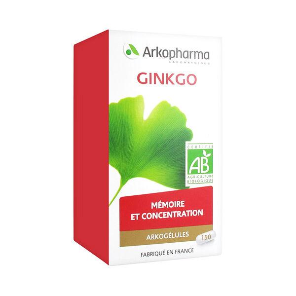 Arkopharma Arkogélules Gingko Bio 150 gélules