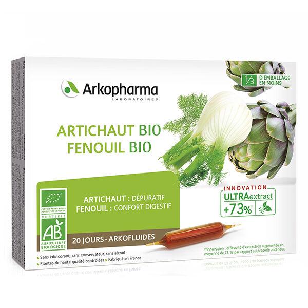 Arkopharma Arkofluides Artichaut Fenouil Bio 20 ampoules