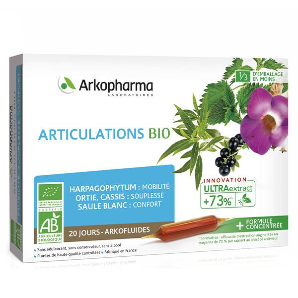 Arkopharma Arkofluides Articulations Harpagophytum Ortie Bio 20 ampoules