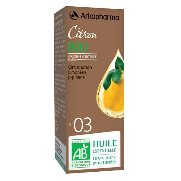 Arko Essentiel Huile Essentielle Bio Citron N°3 10ml
