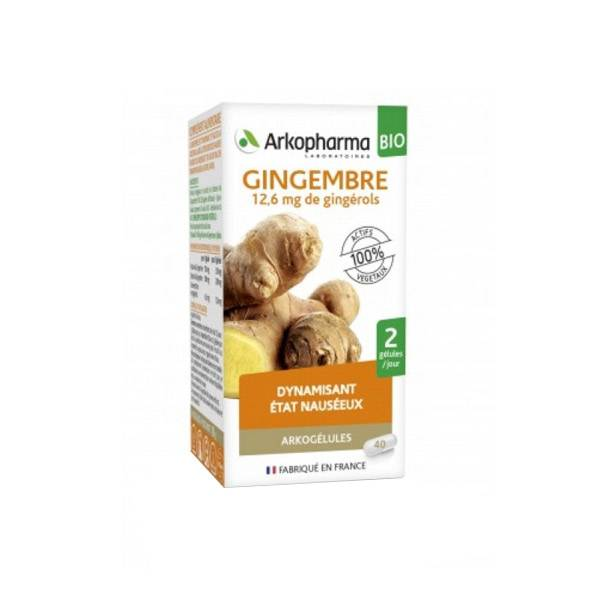 Arkopharma Arkogélules Gingembre Bio 40 gélules