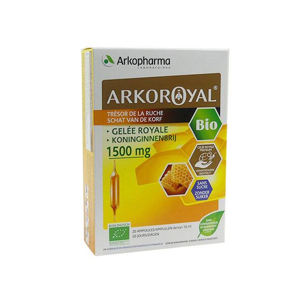 Arkopharma ArkoRoyal Gelée Royale Bio Sans Sucre 1500mg 20 ampoules