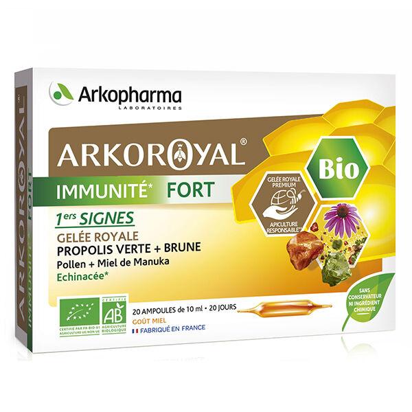 Arkopharma Arkoroyal Immunité Fort Gelée Royale Propolis Bio 20 ampoules