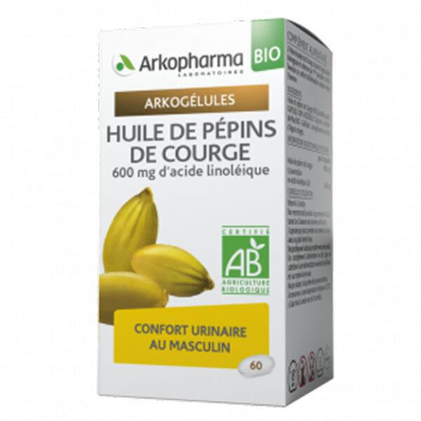 Arkopharma Arkogélules Huile Pépins de Courge Bio 60 gélules
