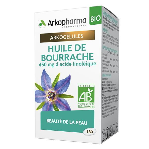 Arkopharma Arkogélules Huile de Bourrache Bio 180 gélules