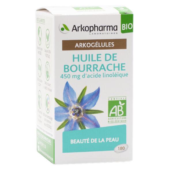 Arkopharma Arkogélules Huile de Bourrache Bio 180 capsules