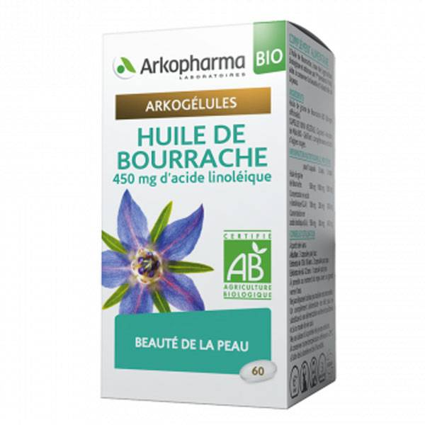 Arkopharma Arkogélules Huile de Bourrache Bio 60 gélules