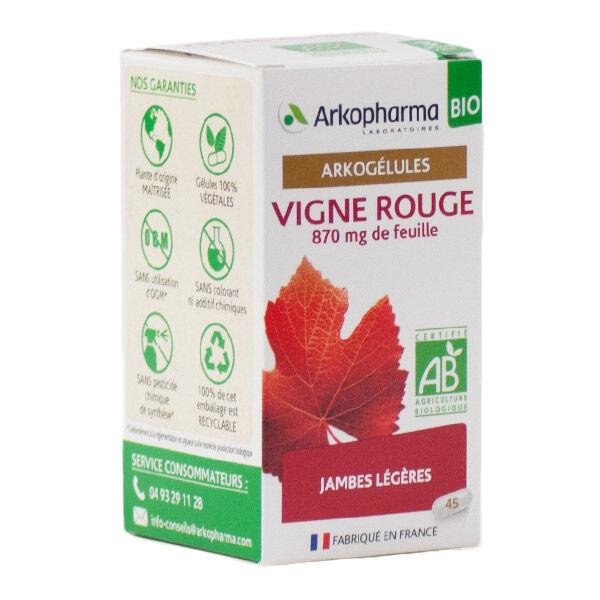 Arkopharma Arkogélules Vigne Rouge Jambes Légères Bio 45 gélules