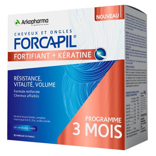 Arkopharma Forcapil Kératine Cure de 3 Mois 180 gélules