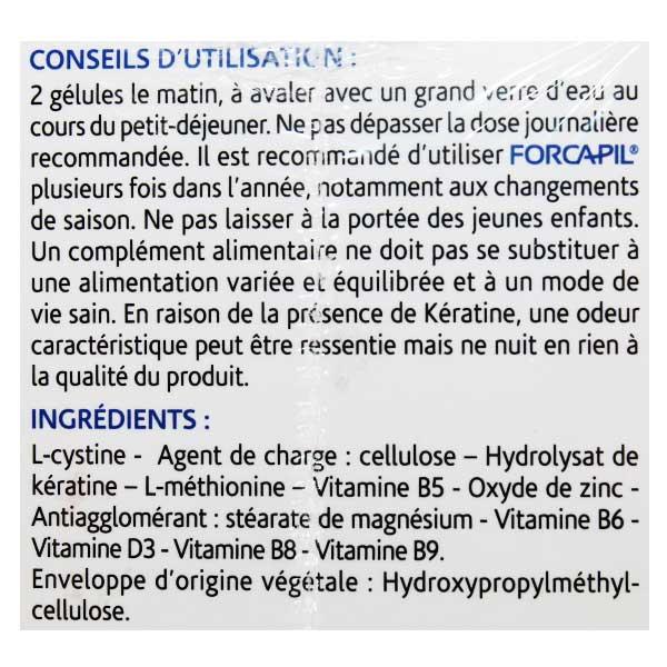 Arkopharma Forcapil Kératine+ 180 gélules + Shampooing 30ml Offert
