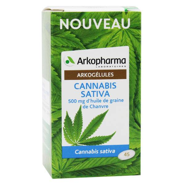 Arkopharma Arkogélules Cannabis Sativa 45 capsules