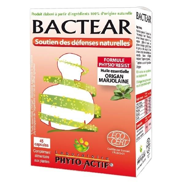 Phyto-Actif Phytoactif Bactear 45 capsules