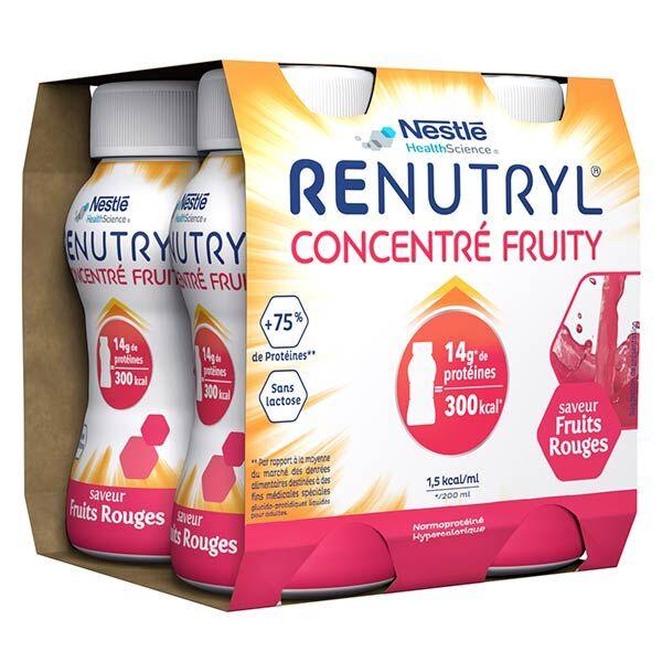 Renutryl Concentré Fruity Fruits Rouges 4 x 200ml