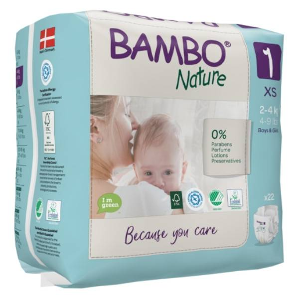 Bambo Nature Couche Taille 1 2-4kg 22 unités