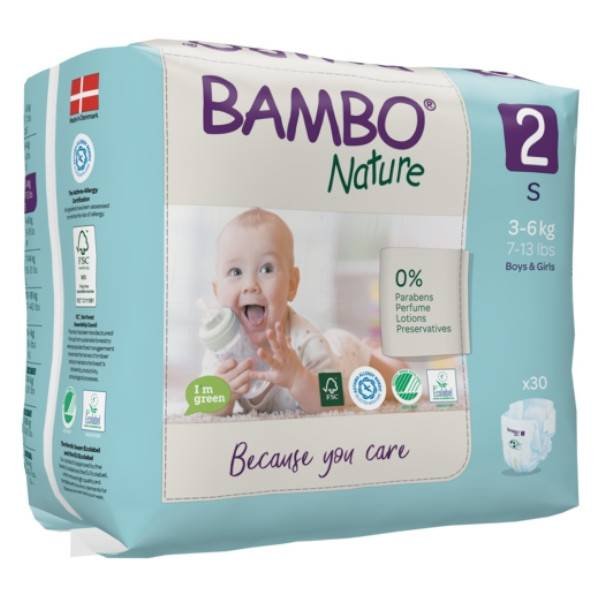 Bambo Nature Couche Taille 2 3-6kg 30 unités