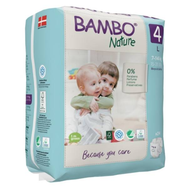 Bambo Nature Couche Taille 4 7-14kg 24 unités