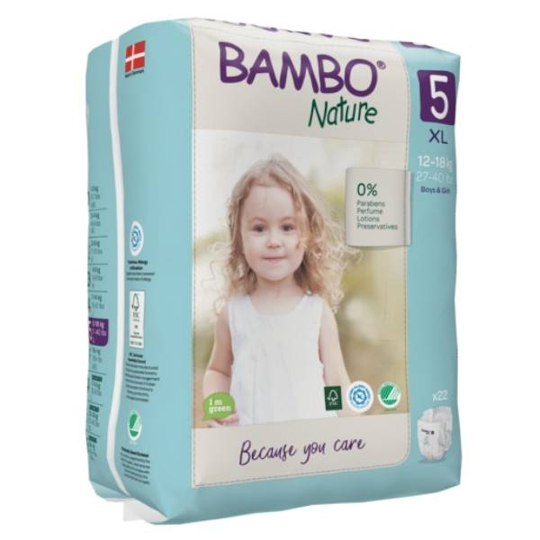 Bambo Nature Couche Taille 5 12-18kg 22 unités