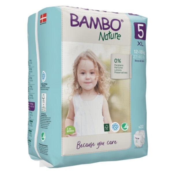 Bambo Nature Couche Taille 5 12-18kg 22 unités