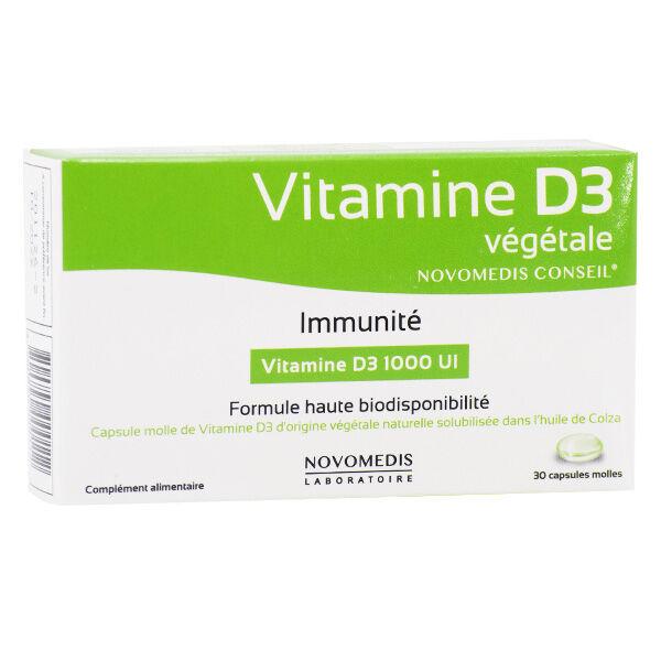 Novomedis Fadiamone Vitamine D3 Végétale 30 capsules