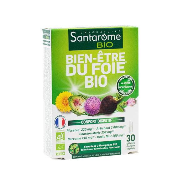 Santarome Bio Bien Être du Foie Confort Digestif 30 gélules