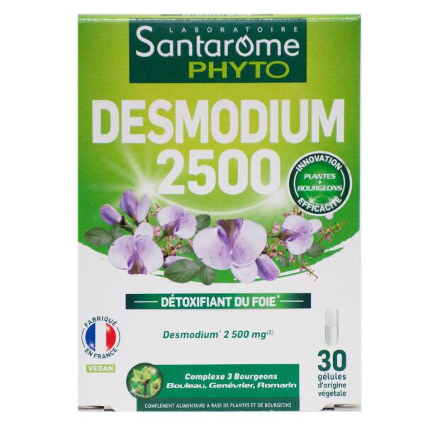 Santarome Bio Desmodium Détoxifiant du Foie 2500 30 gélules